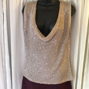 Sweaters - BNWOT Gold sequin sweater.